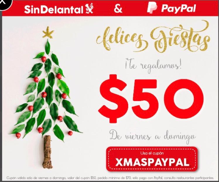 SinDelantal: $50 de descuento de viernes a domingo