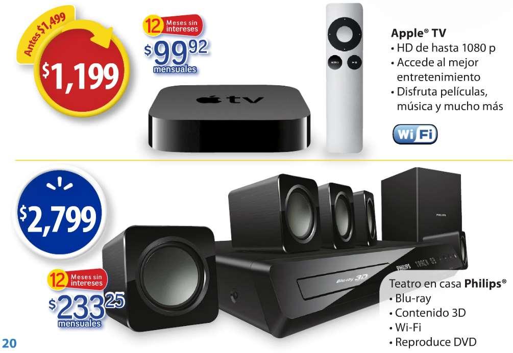 Folleto de ofertas de Walmart al 15 de febrero: Apple TV $1,199 y más