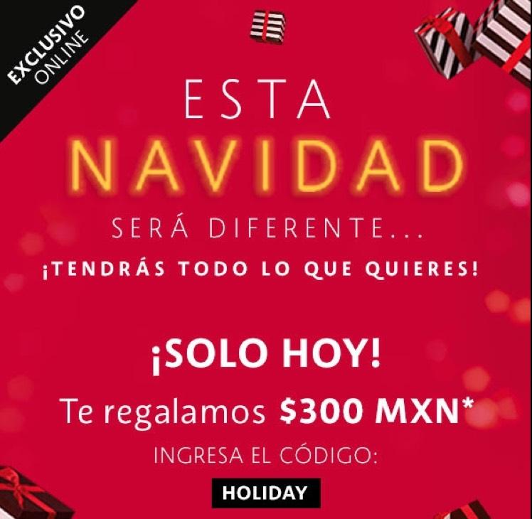 Sephora: tienda en línea cupón 300 pesos descuento