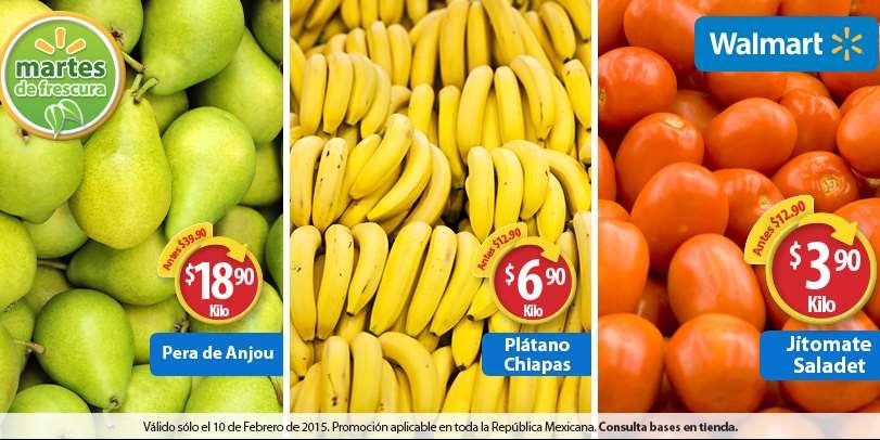 Martes de frescura en Walmart febrero 10: plátano $6.90 el kilo y más