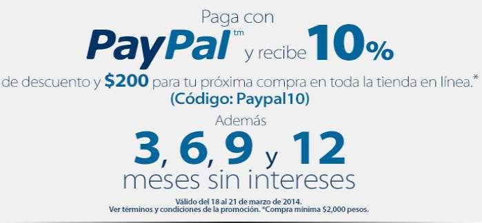 Walmart: 10% de descuento en todo + $200 de bonificación con PayPal