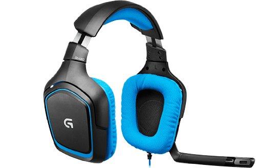 Amazon: Logitech G430 Auriculares de Diadema, Sonido 7.1, color Negro/Azul