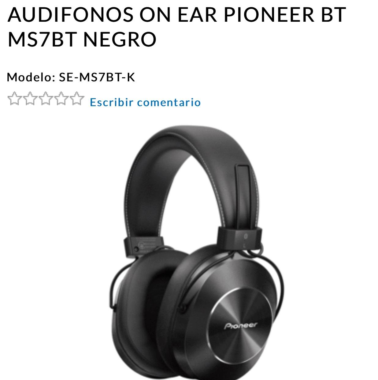 Radioshack: Audifonos bluetooth Pioneer Hi-Res