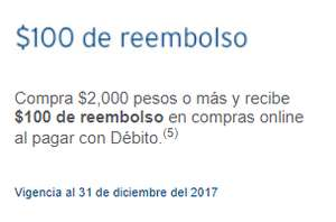 Citibanamex: $100 de reembolso en compras online por cada $2,000 pesos de compra