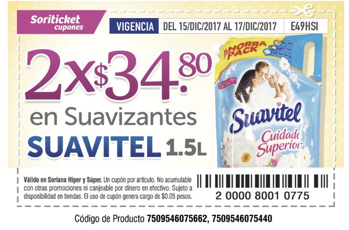 Soriana Soriticket: Suavitel 1.4 2x34.90