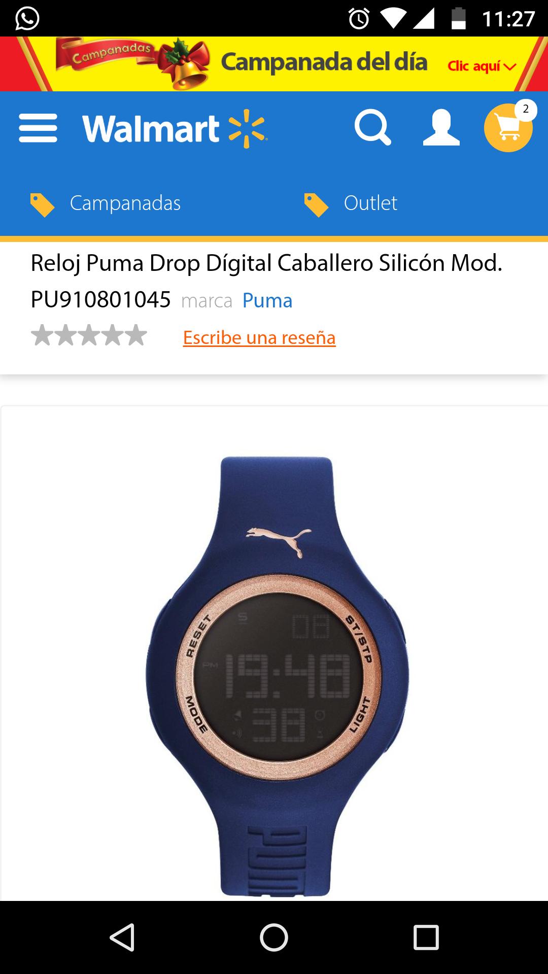 Walmart: Reloj puma Drop digital para caballero