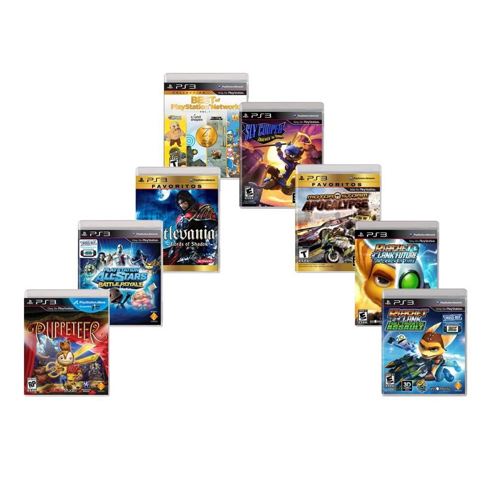 Walmart - Paquete 8 Videojuegos Playstation 3 $390 + envío