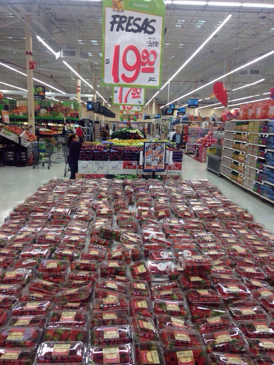 Walmart: Fresas $ 19.90