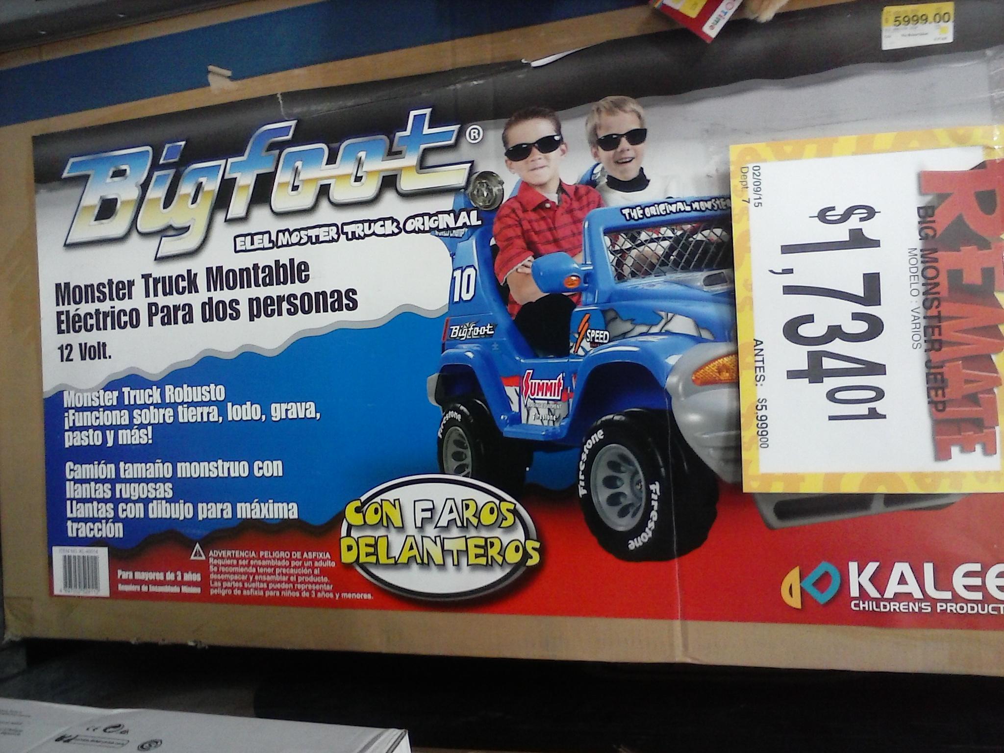 Bodega Aurrerá: Jeep Big Foot de $5,999 a $1,734 y caja registradora de $550 a $110