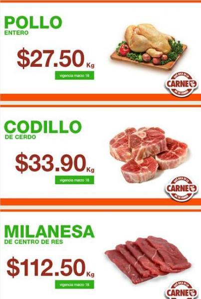 Martes de carnes en La Comer marzo 18