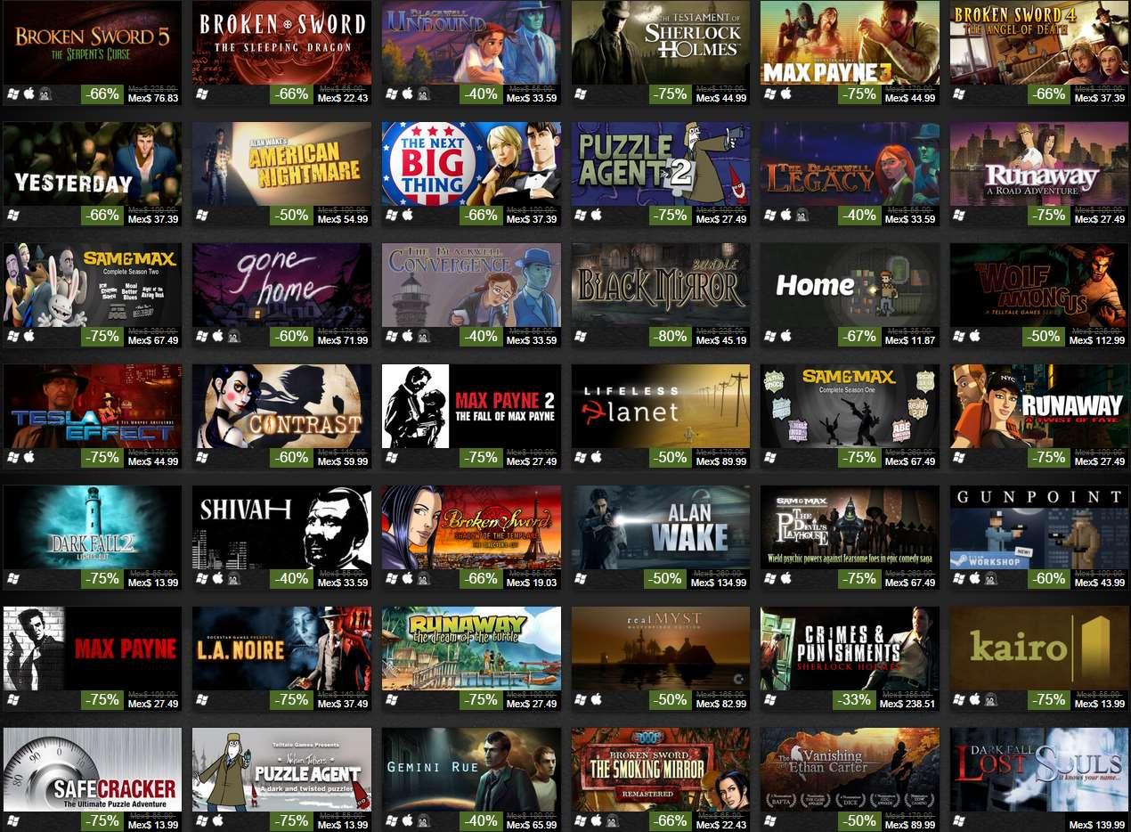 Steam: venta especial de juegos de misterio con hasta 75% de descuento