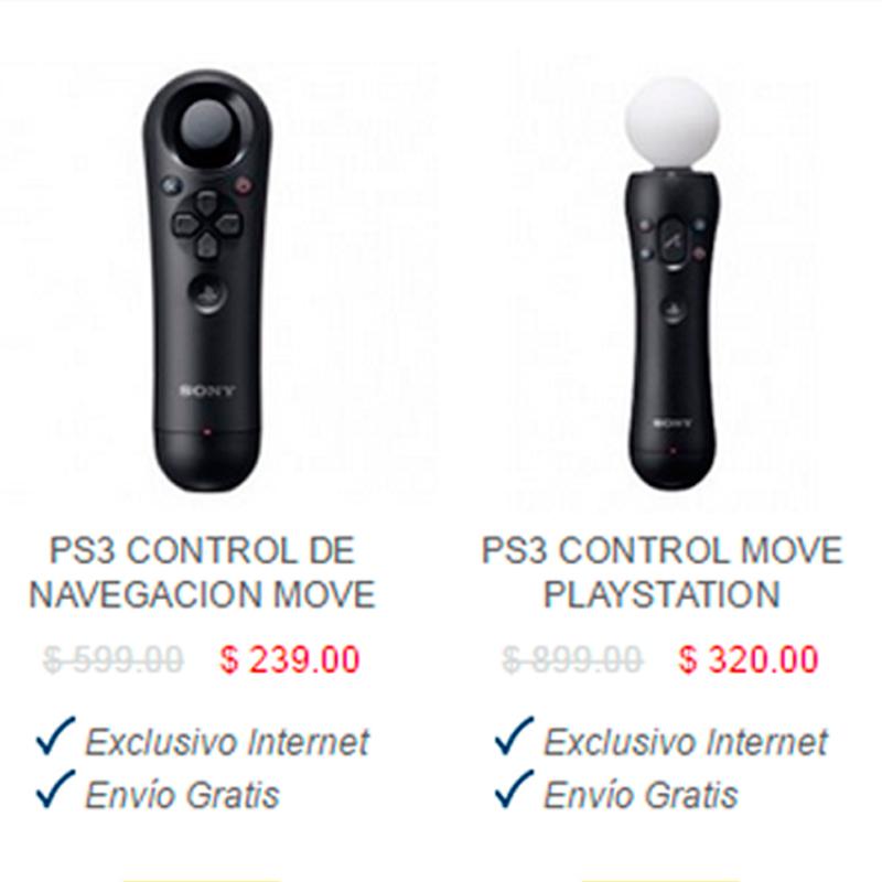 BestBuy - PS3 Control de Navegación Move $239.00 y Move $320.00