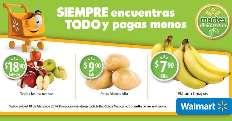Martes de frescura en Walmart marzo 18: manzanas $18.90 el kilo y más
