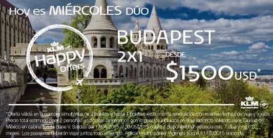 KLM: vuelos a Budapest $737 dólares por persona viajando 2 o más