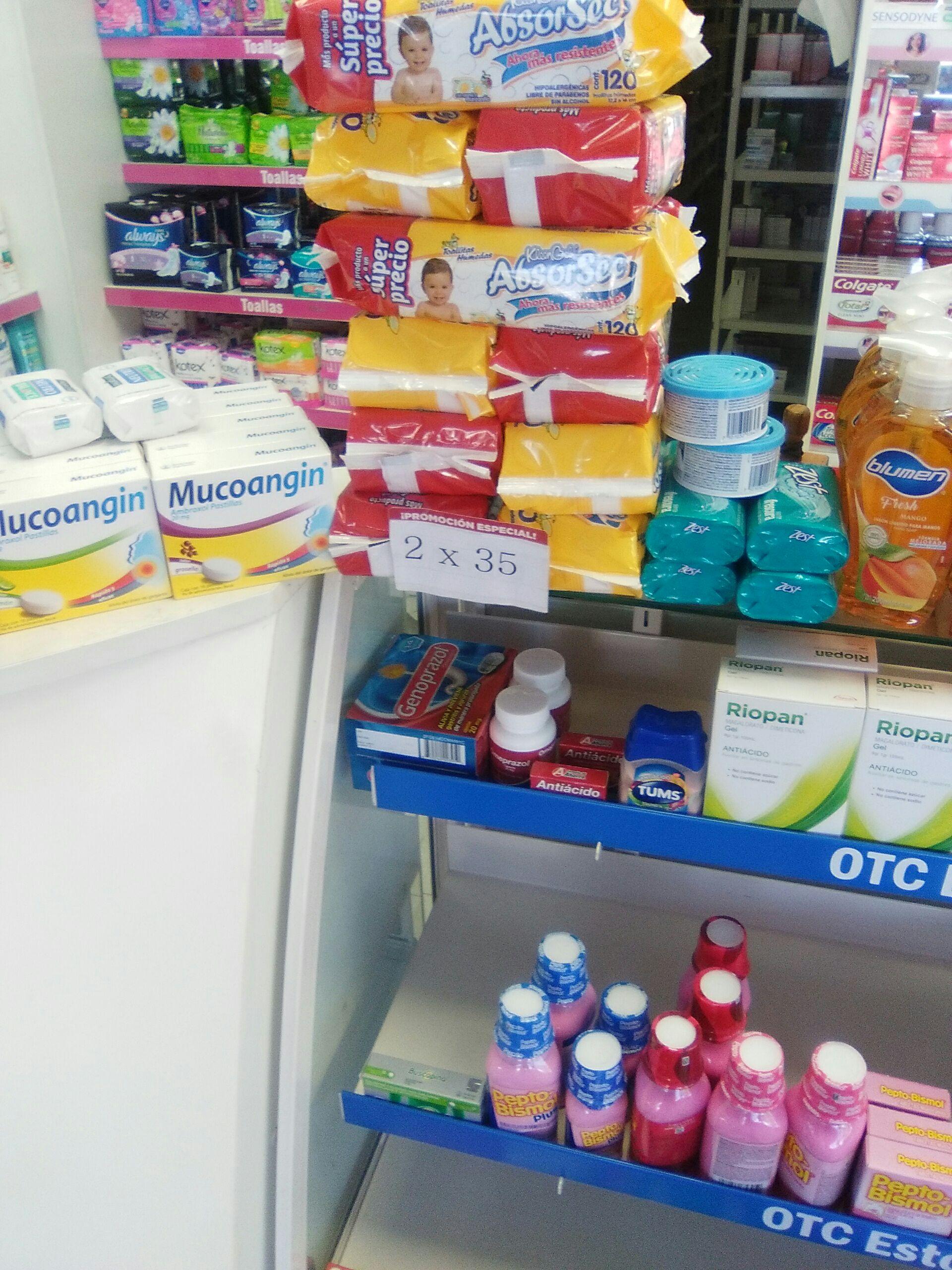 Farmacias del Ahorro: Toallitas húmedas Absorsec