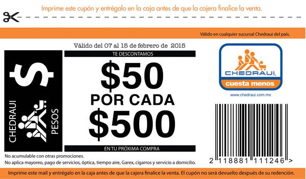 Chedraui: $50 de descuento por cada $500 con cupón