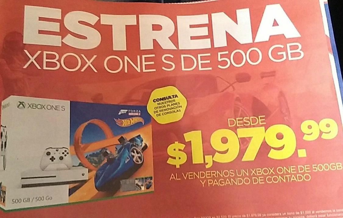 Gamers: Cambia tu consola Xbox one por un Xbox one S desde $1,97