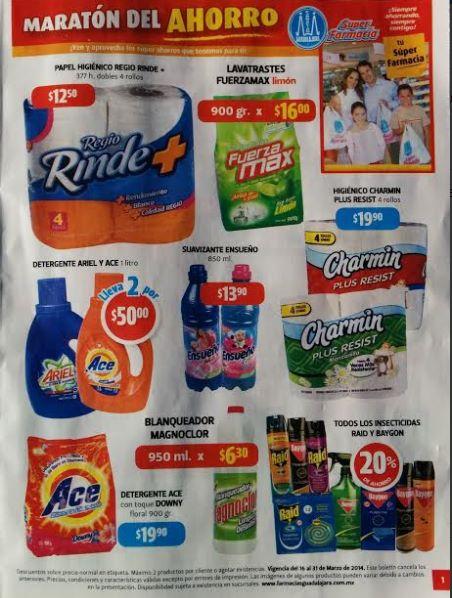 Folleto de ofertas Farmacias Guadalajara del 16 al 31 de marzo 2014