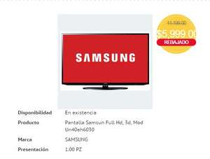 HEB: Samsung Smart TV UN40EH6030 3D