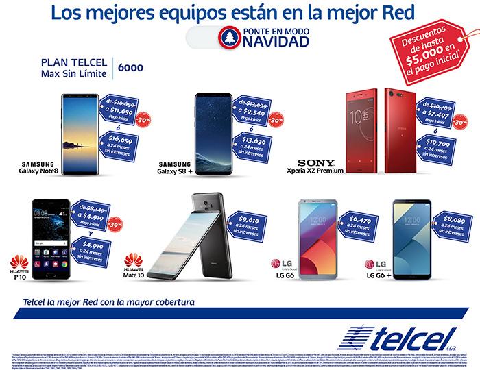 Telcel: Samsung S8+ y más