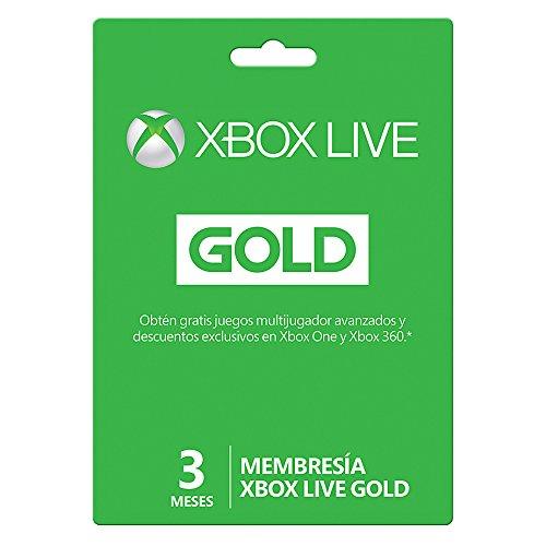 AMAZON: Membresía 3 Meses Xbox Live Gold; 6 Meses a 448.50