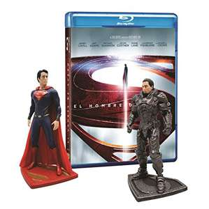 Amazon: Man Of Steel [Blu-Ray + DVD + Figuras Superman y Zod]