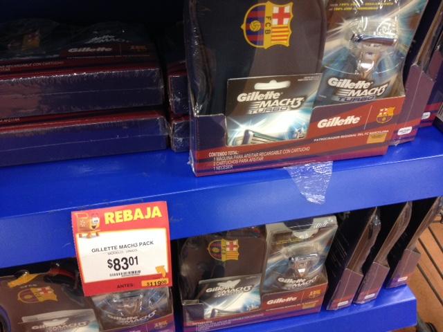 Walmart: Paquete de Gillette Match 3 Barcelona