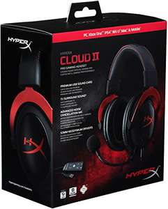 Amazon mx HyperX Cloud II para PC/PS4 sonido envolvente virtual 7.1