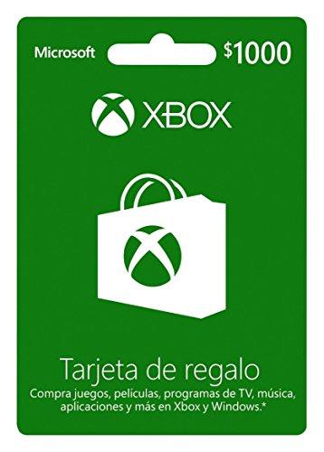 Amazon: Tarjeta Xbox Live $1,000 MXN - Xbox One Standard Edition