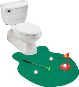 Amazon MX: Juega Golf mientras haces tus necesidades Blue Ridge Novelty Toilet Golf Joke Set