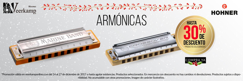 Veerkamp Online (Tienda de instrumentos musicales): Armónicas con hasta 30% de descuento en artículos seleccionados
