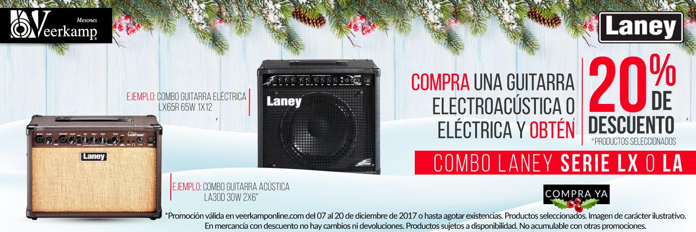 Veerkamp Online (Tienda de instrumentos musicales): 20% de descuento en combo LANEY SERIE LX o LA en la compra de guitarra acústica o electroacústica