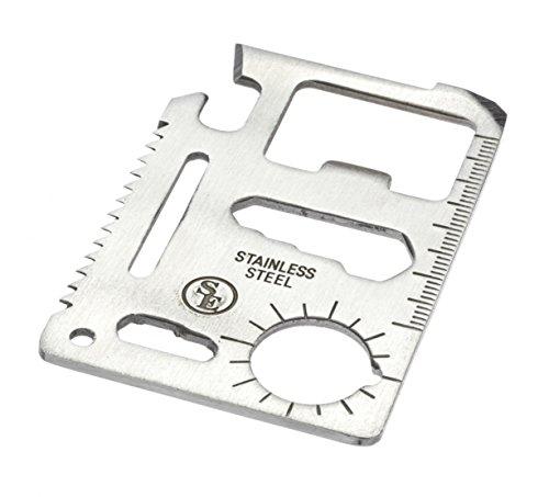 Amazon: Herramienta multifuncional de acero inoxidable en forma de tarjeta con funda paquete de 5 SE MT908-5