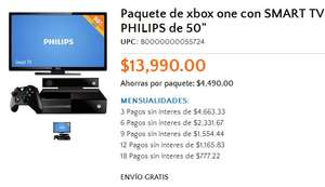"""Walmart: Xbox One + LED Smart TV 50"""" $13,990, iPad Mini $3,890"""