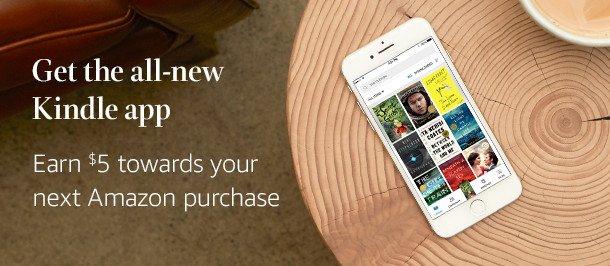Amazon USA: Cupón de 5 dólares si instalan la aplicación Amazon Kindle e inician sesión