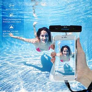 Amazon MX: Mpow 2 Unidades Funda Impermeable de iPhone 6s 6 5s Huawei P8 Lite Bq aquaris x5 Xiaomi, Bolsa IPX8 Certificado Impermeable Transparent, Funda Playa para Movil Universal de 6 Pulgadas