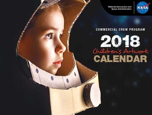 NASA: Calendario 2018 de la NASA con dibujos de niños de varios paises en PDF
