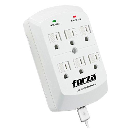 Amazon: Forza FWT-760USB Tomacorriente de Pared, Tomacorriente y Supresor de Sobretensión de 6 Salidas