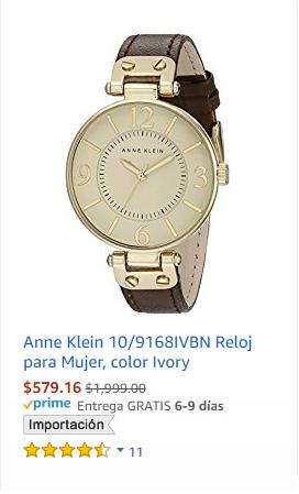 Amazon: Relojes Anne Klein con hasta 70% de descuento