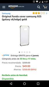 Amazon: Funda original Samsung para Galaxy S6 edge