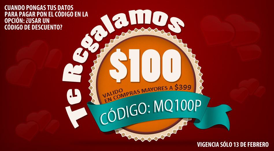 Mequedouno: Descuento de $100 en compras mayores de $399 con cupon