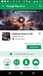 "Google Play: GRATIS ""Defense Zone 2HD"""