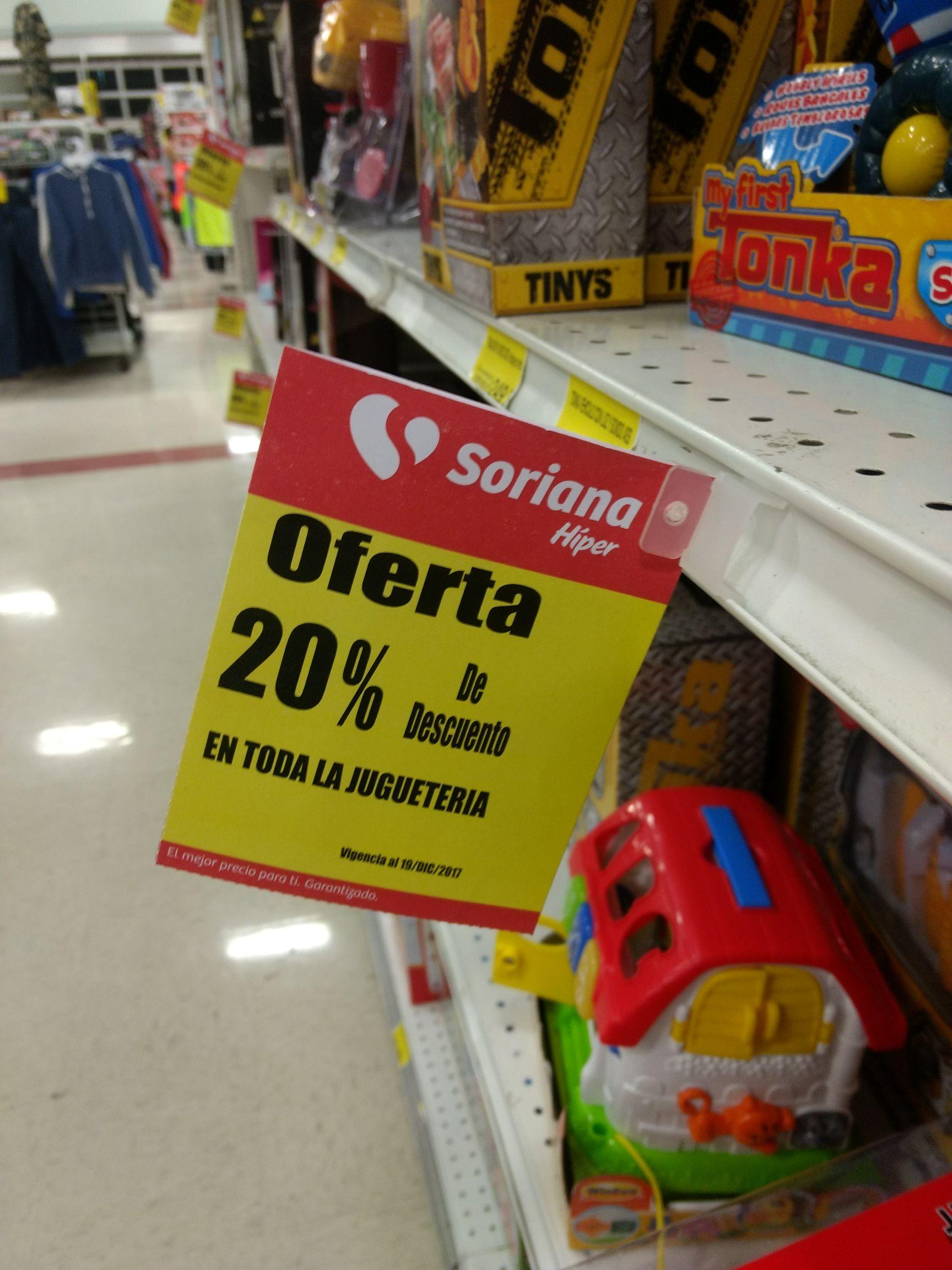 Soriana: 20% descuento en juguetería en Soriana