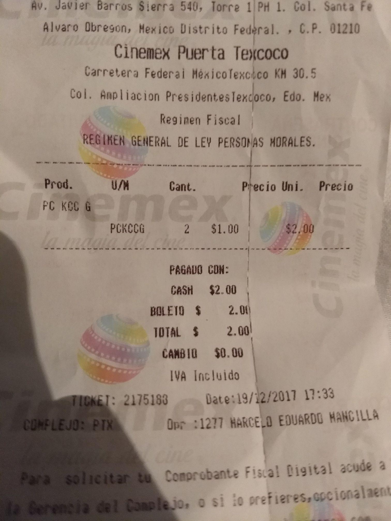Pañuelos kleenex viene cupón cinemex