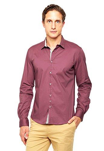 Amazon: Camisa para caballero DKNY color vino  talla grande. Aplica prime.