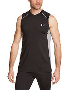 Amazon: Playera sin mangas Under Armour mediana color negro