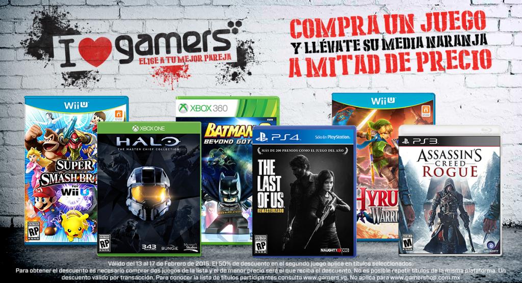 Gamers: 2x1 y medio en juegos seleccionados (Smash Bros Wii U, Far Cry 4 y más)
