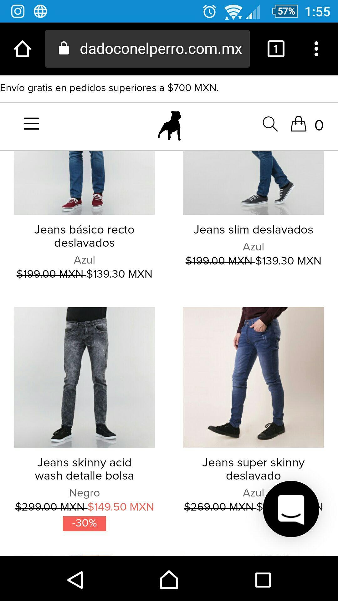 Cuidado con el perro: Jeans desde $139