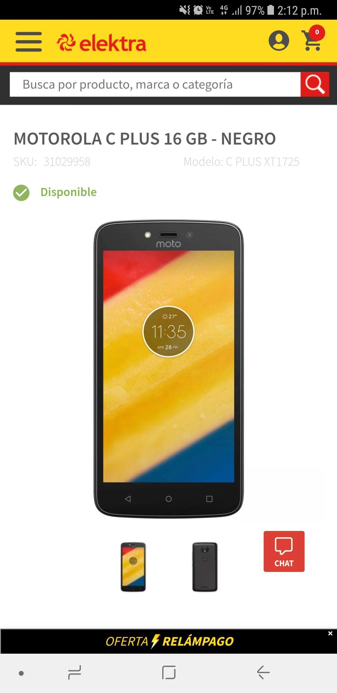 Elektra: Motorola Moto C PLUS 16 GB - NEGRO