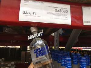 Sam's Club Poza rica: Absolut Azul 2*1